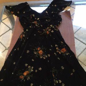 Zara velvet printed dress